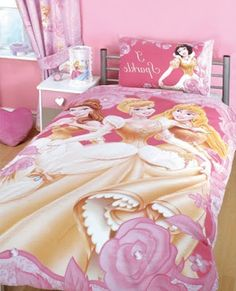 There is a princess in the heart of every little girl. That's why Disney princess bedroom is a popular theme within this certain demographic. Every girl probably has a moment where they wanted a stunning royalty room and sleeping in… Continue Reading → Girl Bedroom Designs, Bedroom Themes, Bedroom Decor, Bedroom Ideas, Disney Princess Bedding, Princess Bedrooms, Small Room Bedroom, Girls Bedroom, Disney Themed Bedrooms