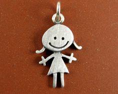 Happy girl pendant