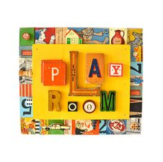 PLAY ROOM decor play room sign play room art by ElizabethRosenArt