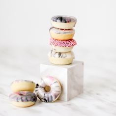 Learn how to dip donuts to give them a classy marbled finish.