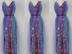 Get your ethereal glam on with this DIY, light-up galaxy dress . Get your ethereal glam on w Costumes Alien, Space Costumes, Diy Costumes, Cosplay Costumes, Space Girl Costume, Light Up Halloween Costumes, Fairy Costume Diy, Halloween Unicorn, Diy Dress