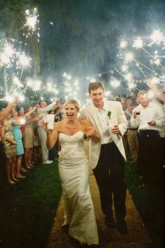 Since it will be night time I think it would be so pretty to use sparklers as we leave the ceremony. Oh my God, I can already see it.