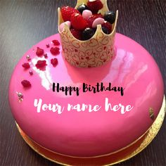 Wife or Girlfriend Birthday Special Cake Pics With Name