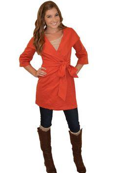 Favorite Fall Coat (Long) (Orange)