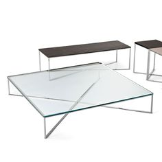 Maxim Glass and metal Coffee Table by Gallotti & Radice
