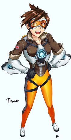 無題 - More at  https://pinterest.com/supergirlsart/ #overwatch #blizzard #game #cute #tracer