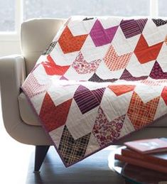 Chevron and On by Megan Bohr is a quilt that has it all: great design, easy piecing and style for days.