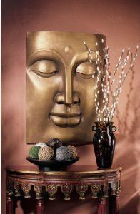 """28"""" Large Buddha Meditation Wall Sculpture Statue Decor by Artistic Solutions. $195.40. Cast in quality designer resin. Classic Statues Sculptures. At over 2 feet tall, this dramatic, oversized statement piece draws the eye and mind toward the calming countenance of the Buddha. Traditional Asian art with a contemporary feel, this work is cast in quality designer resin with a warm, inviting antique bronze finish for your home or gallery.20""""Wx5½""""Dx28""""H. 11 lbs."""
