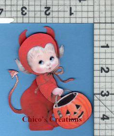 Handcut Scrapbook Embellishment Piece Halloween Little Devil Trick or Treat A264 | eBay