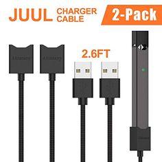 Save 50% on AMAZON with code NNOF5B6R Pinned on 10/05/2018 Charger Cable for Juul1,Aitianany Nylon Braided Fast Charging Magnetic Charger USB Cable Compatible Juul1,Juul2,2.6 Feet,2 Pack Electronic Deals, Charger, Cable, Packing, Usb, Coding, Amazon, Cabo, Bag Packaging