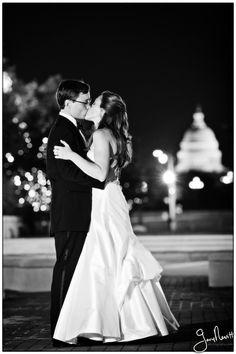 Beautiful nighttime DC wedding photo #wedding #weddinginvitations