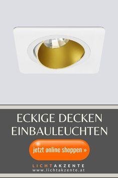 Der schwenkbare Einbau Deckenspot mit abgerundeten Ecken wirkt sehr edel und modern. Das rückversetzte Leuchtmittel sorgt für einen besseren Sichtkomfort (keine Blendung). Deckeneinbau Spot ist geeignet für: Wohnzimmer, WC, Diele, Flur, Schlafzimmer, Esszimmer, Küche. Jetzt online kaufen bei Lichtakzente.at // #decke einbaustrahler eckig #spots beleuchtung decke #strahler decke weiss #decke #deckenspots #strahler decke flur #spots #lampen und leuchten #lichtakzente Tilt, Interior, Blog, Contemporary Light Fixtures, Ceiling Light Living Room, Ceiling Lights, Indoor, Blogging, Interiors