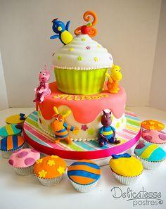 Backyardigans Birthday Cake-6 by Delicatesse Postres, via Flickr