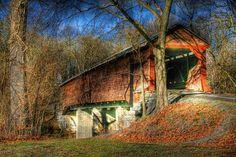 Covered bridge in Virginia. Meems Bottom