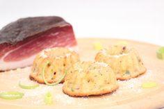 Herzhafte Minigugelhupfs ... einfach super lecker! Parmesan, Lauch, Schinken, Kartoffel Gugelhupfs