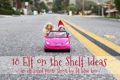 18 Elf on The Shelf ideas! An entire photo shoot of our little elf Buddy.