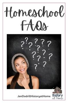 Homeschooling has been around a long time, but in the last couple of years it's very popular (one good thing from Covid). I have a list of how to homeschool FAQs that I know will help you! Read on and if your question isn't on the list, comment and I will answer it! #homeschooling #howtohomeschool #howdoIhomeschool #howtohomeschoolFAQs #JenDodrillHistoryatHome School Resources, Learning Resources, Teacher Resources, Homeschool High School, Homeschool Curriculum, Benefits Of Homeschooling, School Closures, Special Needs Kids, Teacher Hacks