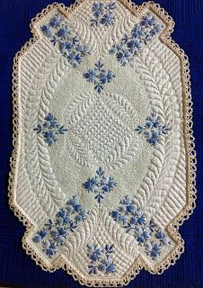I love the unique shape and the lace around the edge makes it look antique-ish Cindy Needham