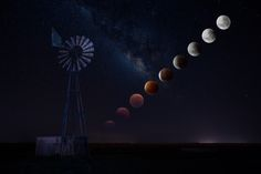 A composition of the #‎SuperBloodMoon‬ as seen from South Africa near Johannesburg.  #‎LunarEclipse‬