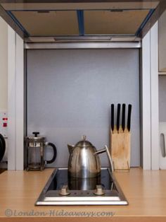 Kitchen facilities -  Small fridge/mini freezer ,Microwave, Oven, Hot plates, Percolator ,Kettle ,Hob, fan ,Toaster, Dinnerware and cookware provided Furnished Apartments, Small Fridges, London Apartment, Holiday Apartments, Microwave Oven, One Bedroom, Toaster, Kettle, Freezer