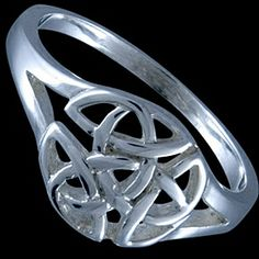 Sterling silver ring, celtic design