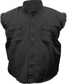 Mens Black Cotton Twill Sleeveless Shirt AL-2901-2XL - Review