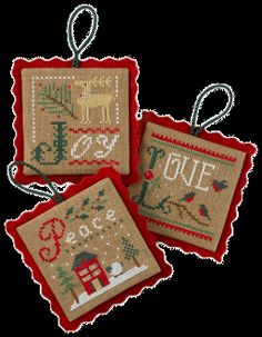 Lizzie Kate Christmas Ornaments Cross Stitch patterns