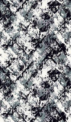 Painted Crosshatch - black & white pattern design; mark ...