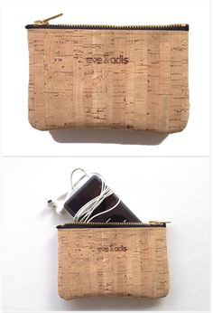 Cork Wallet with zip by German couple Eve & Adis