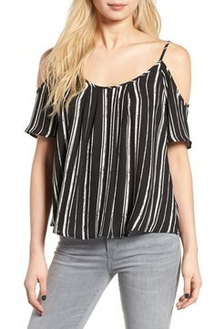 Lush Cold Shoulder Top available at #Nordstrom