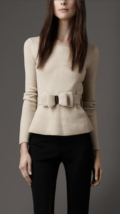 Bow Belt Sweater - Burberry
