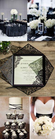 gorgeous black and white themed wedding ideas #WeddingIdeasBlackAndWhite