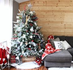 Gorgeous Christmas Tree On Wooden Crate