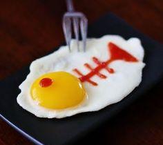 ¿Y por que no nos damos un gusto? Huevo frito al estilo pez. #recetas divertidas