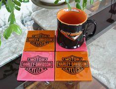 Harley Davidson His & Her Coasters