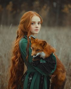 A Girl with a Fox Credit: Photographer Anastasiya Dobrovolskaya Fantasy Photography, Photography Poses, Vintage Photography, Character Inspiration, Character Design, Foto Fantasy, Pose Reference, Red Hair, Fairy Tales