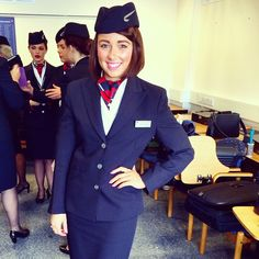 """To Fly To Serve. ✈️ First day in uniform today! #britishairway #cabincrew #toflytoserve #BA #uniform #training #almostgotmywings "" Photo taken by @sarahlou046 on Instagram, pinned via the InstaPin iOS App! http://www.instapinapp.com (03/27/2015)"