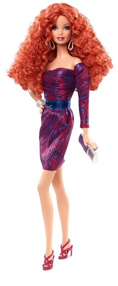 Amazon.com: Barbie: The Look City Shine Redhead Doll: Toys & Games