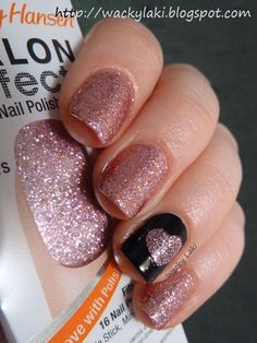 Wacky Laki: Sally Hansen Salon Effects Bling It On for Valentines Day