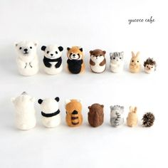 Cute Needle felting project felted wool animals(Via @yucococafe)