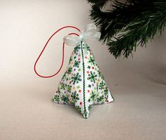 Cross Stitch Miniature Christmas Tree Biscornu by FluffyFuzzy
