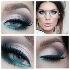 Smoky eye with wing and green on the water line