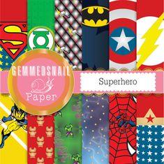Superhéroes de papel digital, con Superman, linterna verde, Thor, Batman, Capitán América, The Flash, Wolverine, Ironman, Hulk, tormenta, Spiderman y Wonder Woman. Además de un documento de word gratis como se muestra en la segunda foto. Xmen, Vengadores en conjunto 13 documentos, 12 x 12 pulgadas. Perfecto para fiestas de niños. ¿Quiere a spiderman? Por favor ver este conjunto https://www.etsy.com/nz/listing/248563227/spiderman-digital-paper-12-spiderman? Aquí...