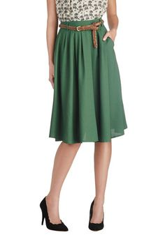 Breathtaking Tiger Lilies Skirt in Stem Green, #ModCloth. I want this skirt in every color.