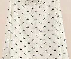 White Lapel Rivet Polka Dot Dogs Print Blouse. Fashion : Tops : Blouses White Lapel Rivet Polka Dot Dogs Print Blouse - See more at: http://spenditonthis.com/cat-13-fashion-newest.html#sthash.2AY8IwXi.dpuf