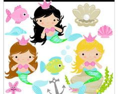 Cartoon Mermaid Clip Art | Mermaid Clipart Kids | Clipart Panda - Free Clipart Images