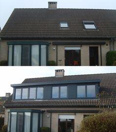 Een dakkapel kan zelfs over de gehele breedte van de woning. Deze klanten opteerden voor een maximale uitbreiding van hun bovenverdieping.