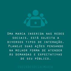 Uma dica de #SocialMedia fresquinha #DicaBamp #BampDm #Planejamento #Marketing e #Interação