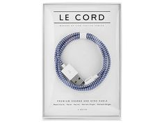 Le Cord - the finest quality of iPhone textile cables. #weidesign #design #lecord #cable #scandinaviandesign