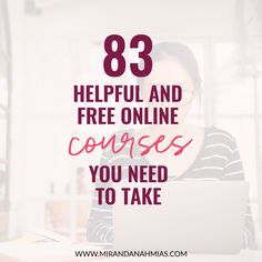 83 Helpful and Free Online Courses You Need to Take - Online Courses - Ideas of Online Courses - If you want to run a successful online business knowing your stuff is a MUST. Luckily there are free online courses out there that can help you do this! Best Online Courses, Free Courses, Online Courses With Certificates, Successful Online Businesses, French Language Learning, Free Education, Educational Websites, Online Programs, Social Skills